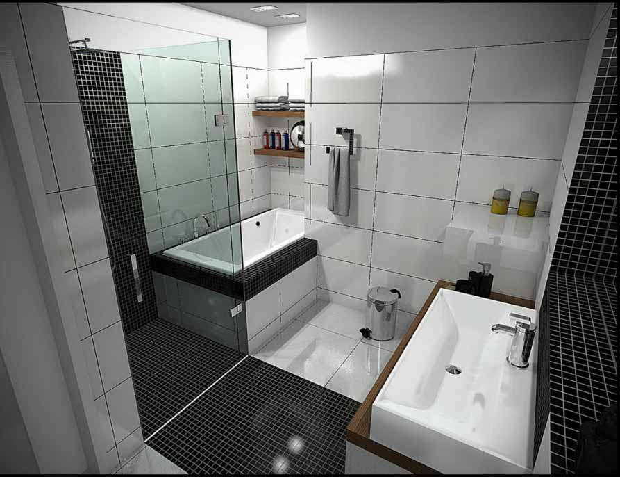 Pin by luckydandelion on home garden pinterest for Modern bathroom design ideas small spaces