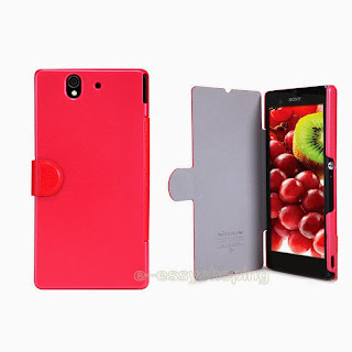 Nillkin Ultra-thin Leather &PC Flip Fresh Cover Case for Sony Xperia Z L36h L36i