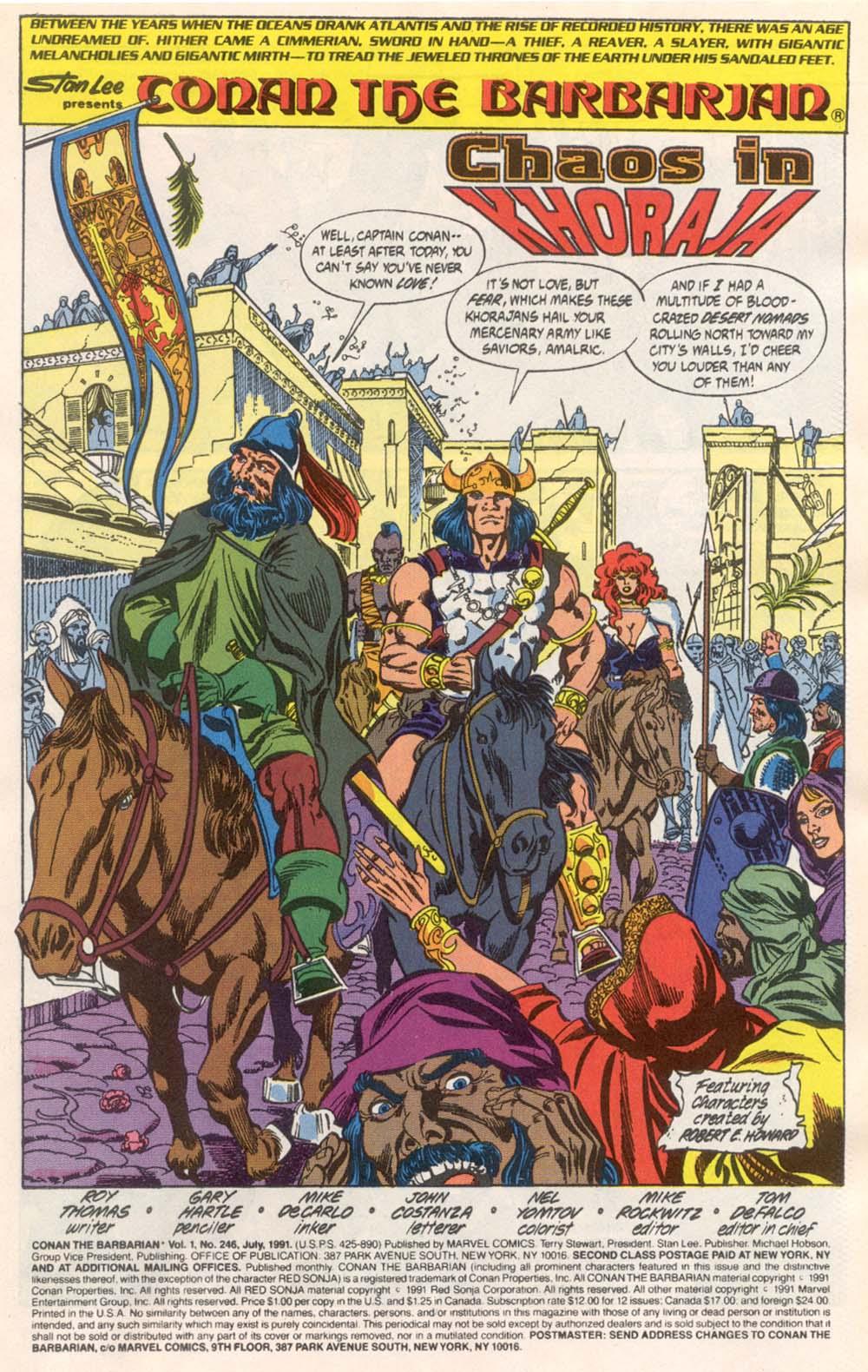 Conan the Barbarian (1970) Issue #246 #258 - English 2