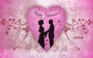 Happy valentines day romantic couple