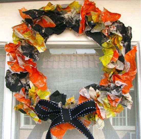 10 Coronas de Halloween con Materiales Ecoresponsables