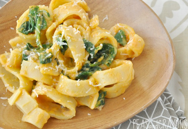 Creamy Pumpkin Alfredo with Spinach