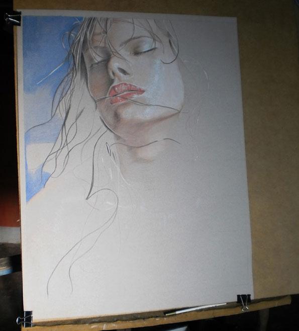 Anyelo González lápiz de color