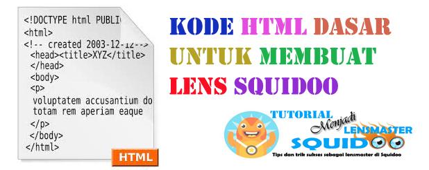 Kode HTML dasar untuk meng-customize lens