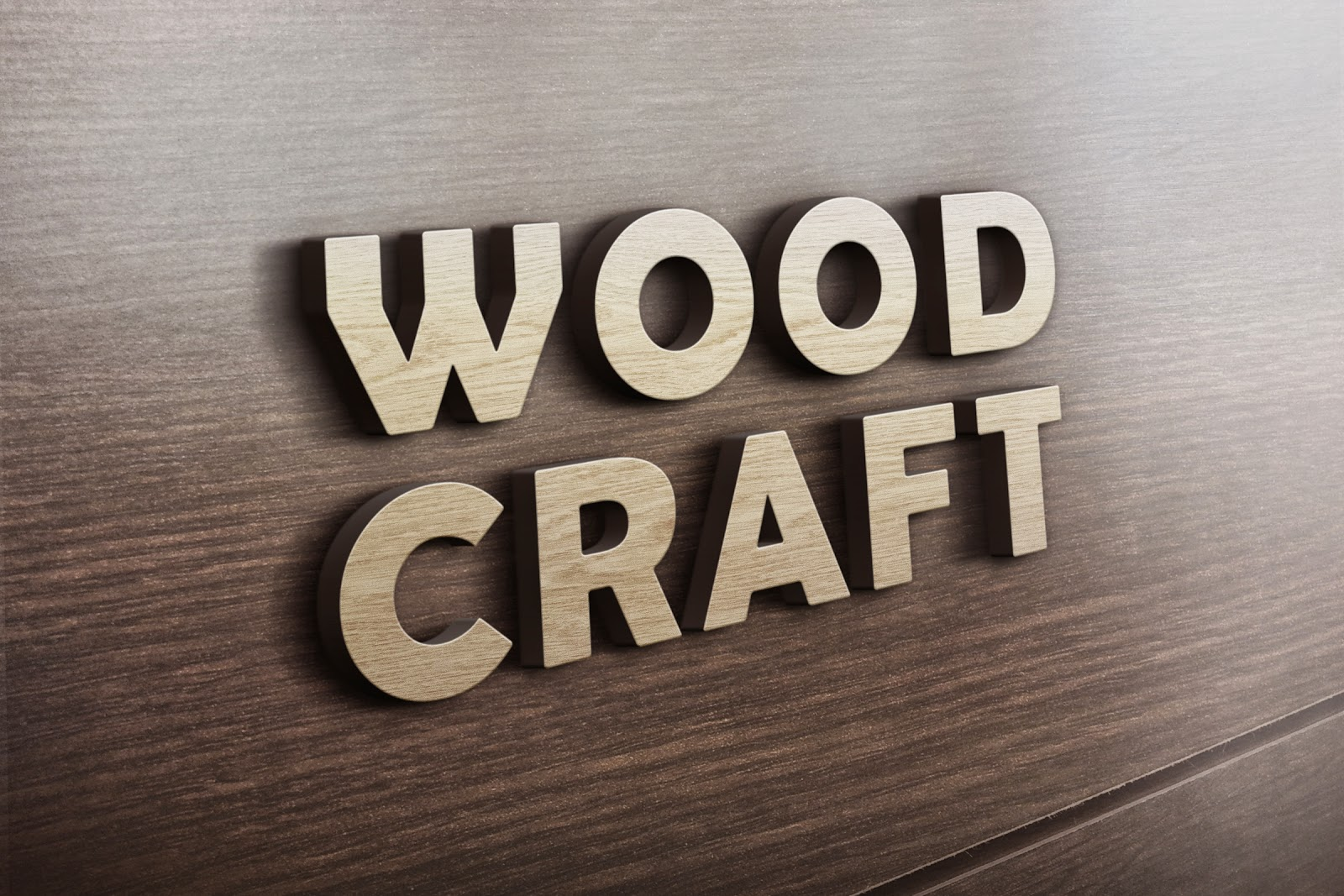 3d text wood logo mockup psd file studiopk get free