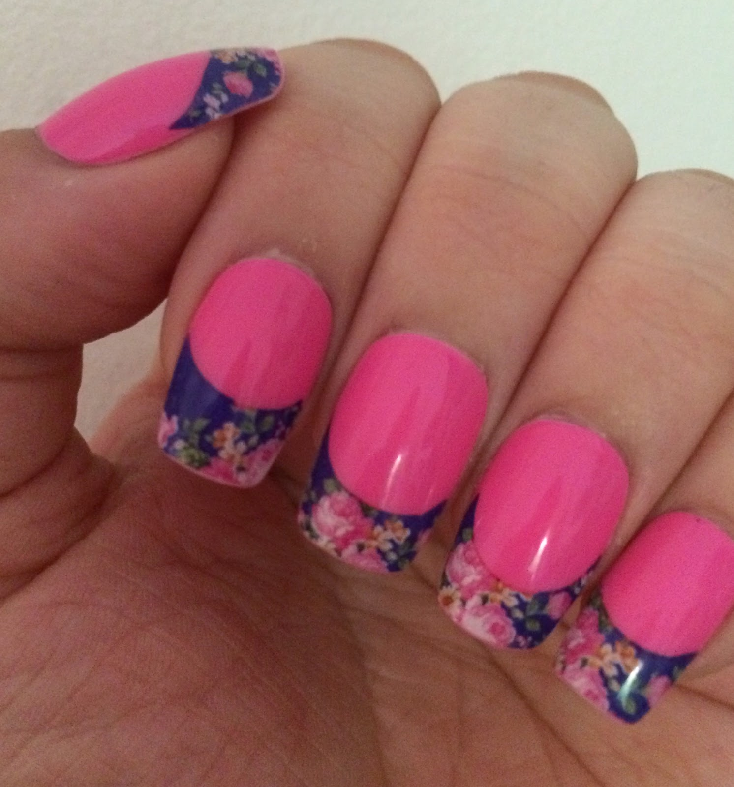 Born Pretty Store Floral French Manicure Nail Decals