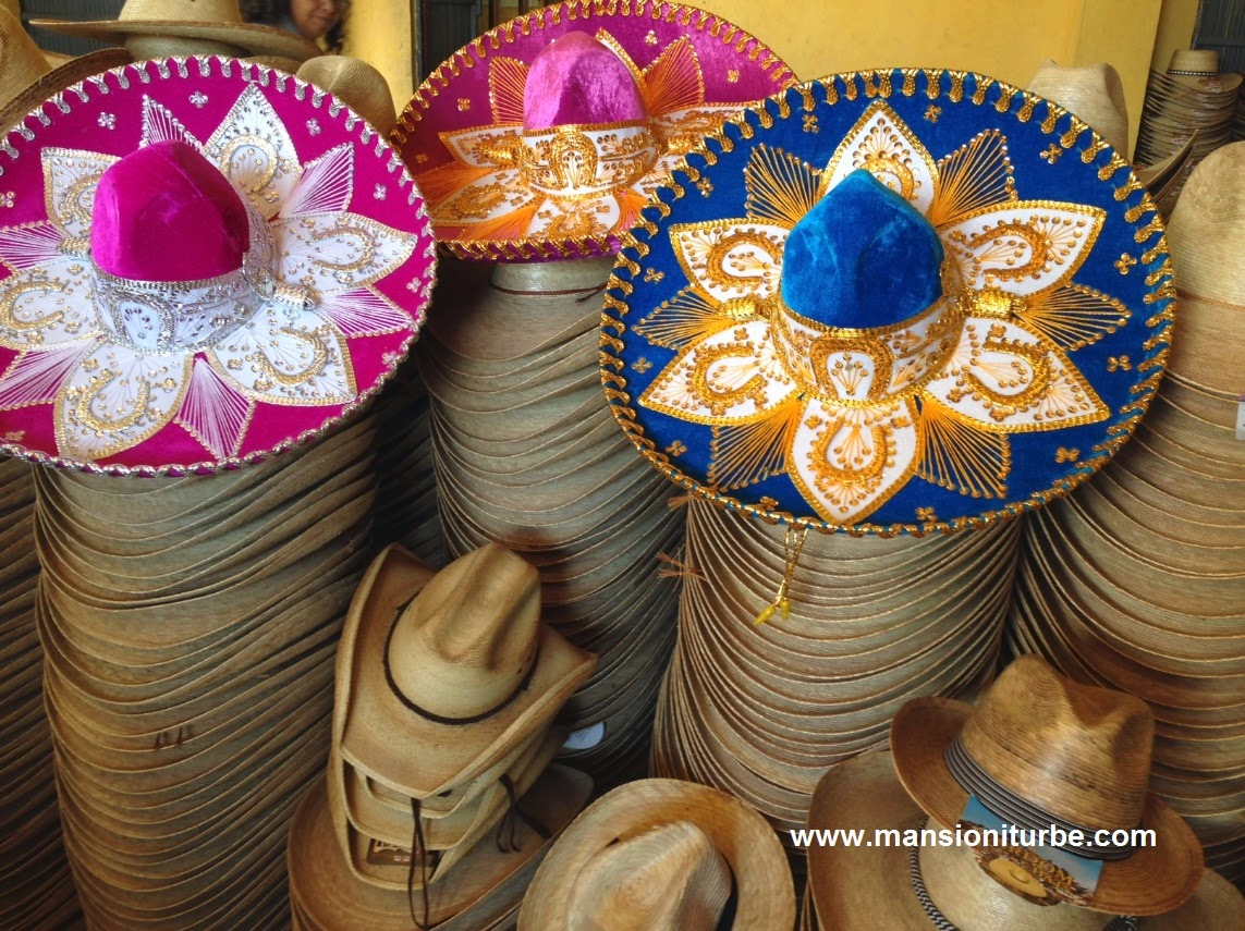 Straw hats in Jaracuaro at Lake Patzcuaro