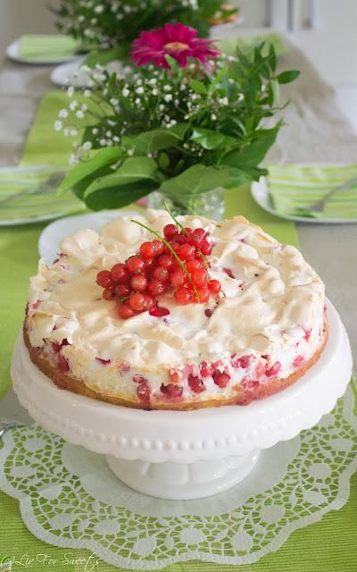 Torte, Johannisbeeren, Baiser, Rezept, Thermomix