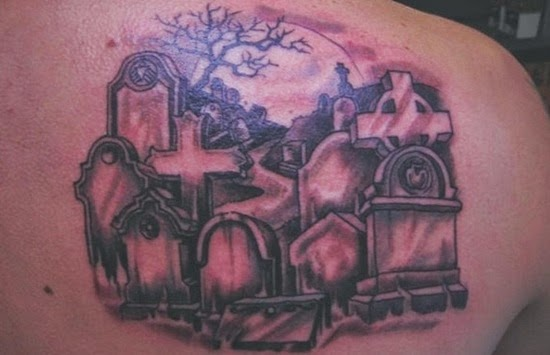 graveyard tattoo ideas. Black Bedroom Furniture Sets. Home Design Ideas