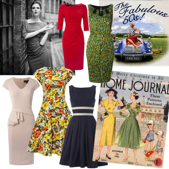 The Fabulous 50s | Vintage dresses inspired by the 1950s wish list