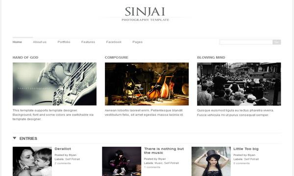 Sinjai Premium Blogger Template