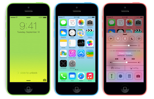 iPhone 5c on iOS 7