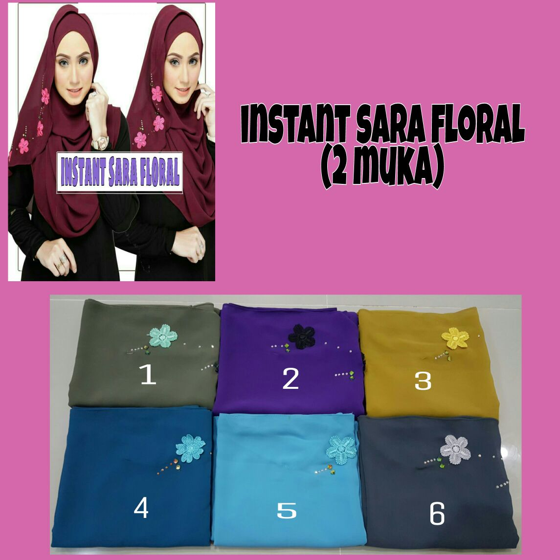 Instant Sara Floral (2 muka)