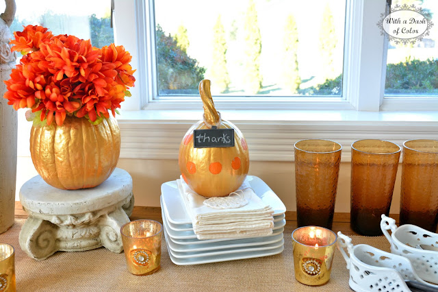 With a Dash of Color: Thanksgiving Buffet Table