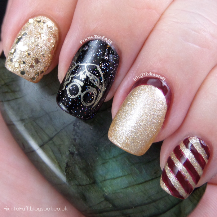 Harry Potter nail art look, a blogger collaboration with Belle Glamour.