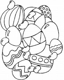Coloriage paques lapin oeuf