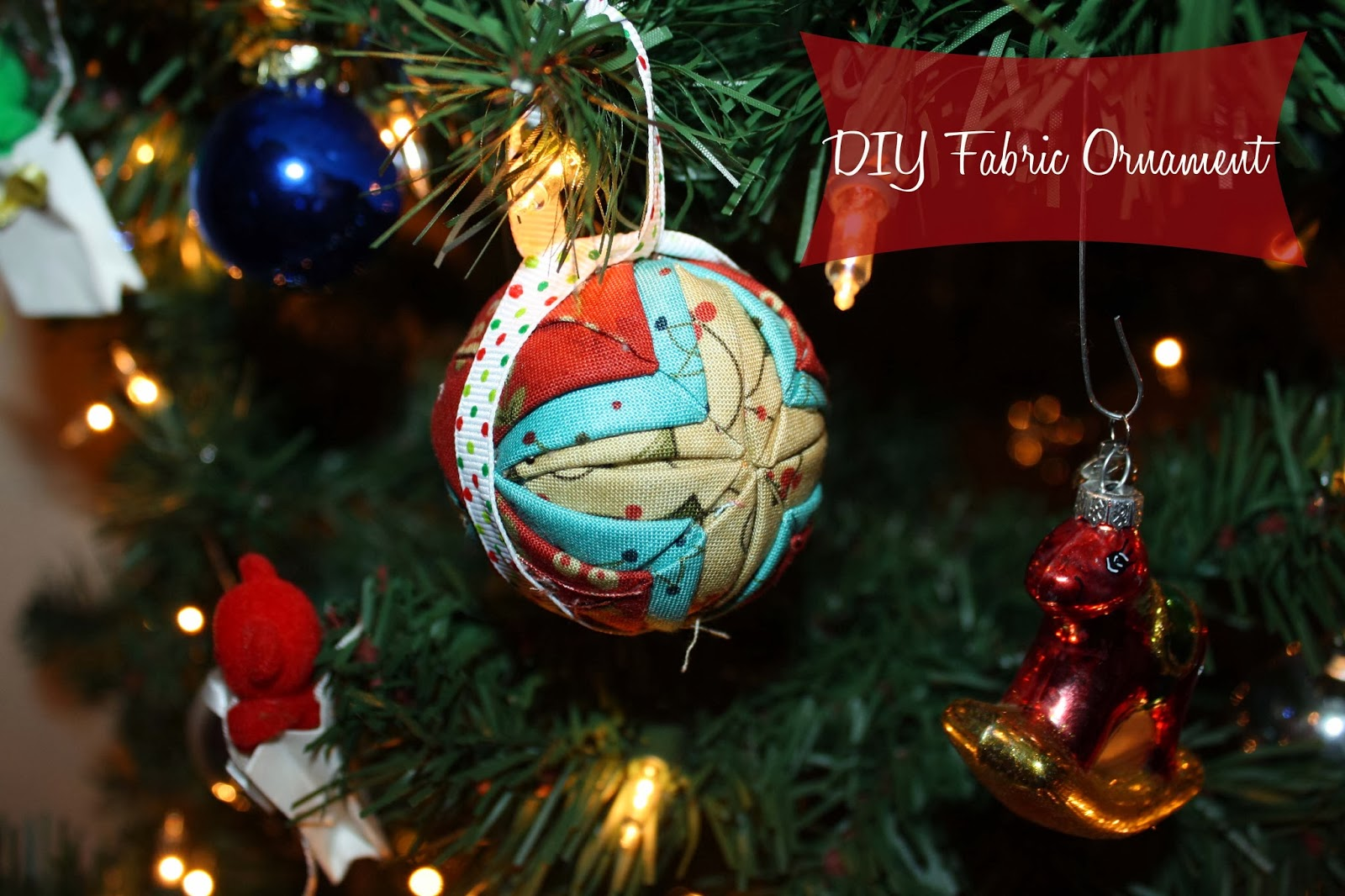 Sew Much To Say: The 12 DIYs of Christmas: No-Sew Fabric Ornament