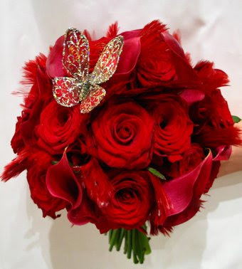 Red Wedding Flowers Bouquet