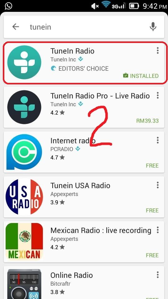 irdk fm cara cara mendengarkan radio irdk fm di handphonetaip tunein dan tekan tunein radio