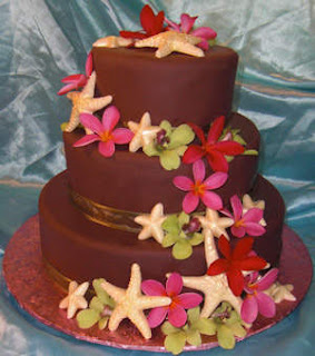 Chocolate Maui Wedding Cakes
