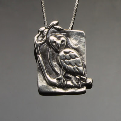 Wise Owl, sterling silver pendant