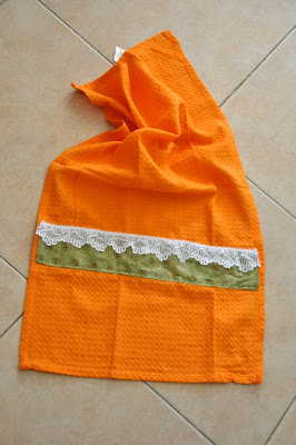 upgrading kitchen towel tutorial
