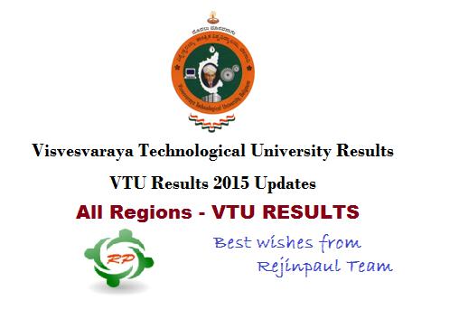 VTU Results 2015 - UG PG