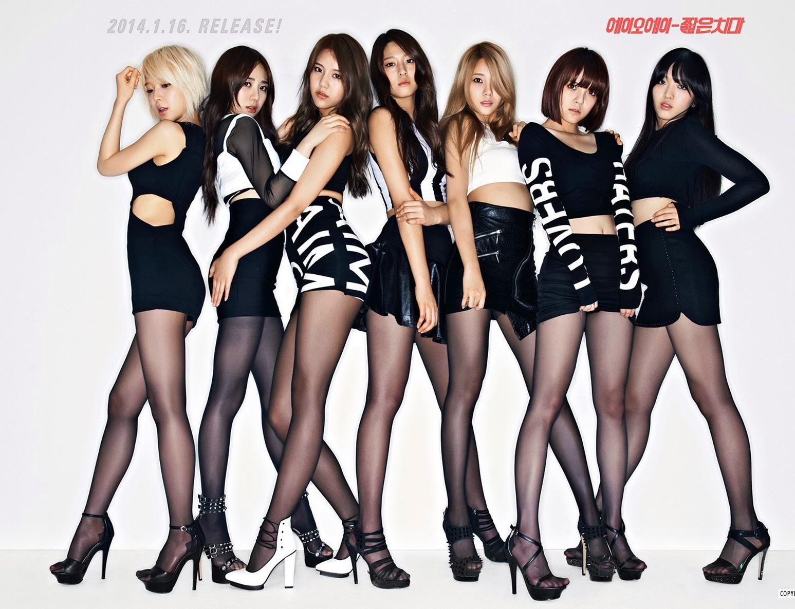 AOA Miniskirt 짧은 치마 Wallpaper HD