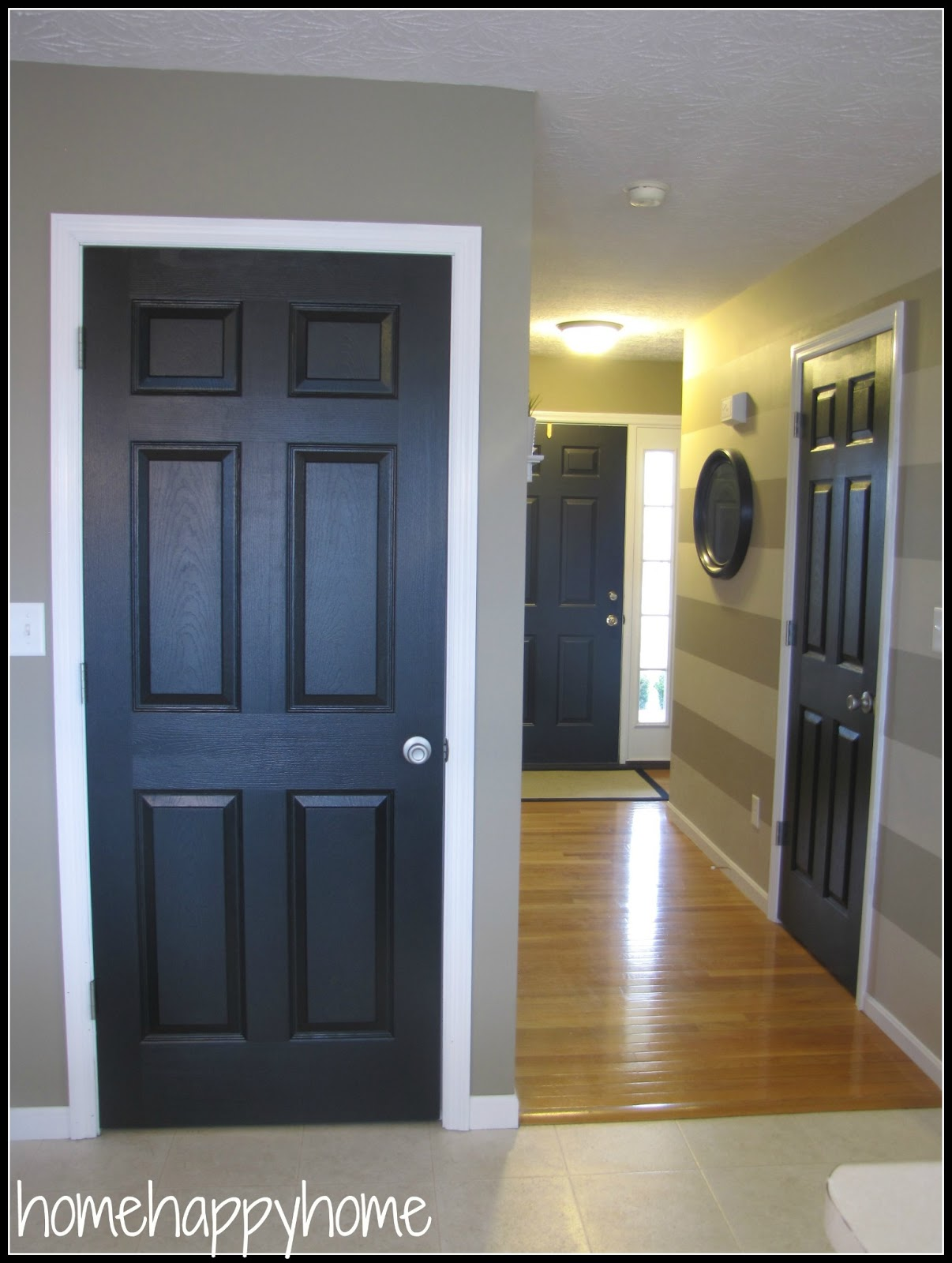 Black interior doors 2017 2018 best cars reviews for Wood doors painted trim