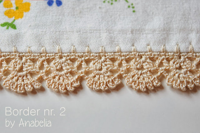 Crochet border nr 2 for individual tablecloth by Anabelia