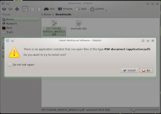 openSUSE 12.3 DARTMOUTH KDE RC1 No PDF Reader Error
