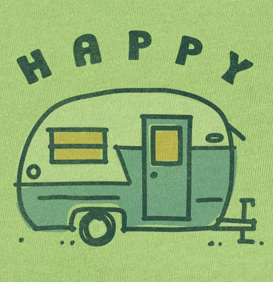 happy camper shirt design