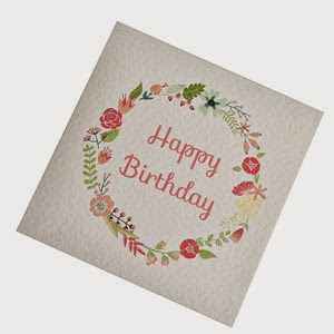 Ma Bicyclette - Buy Handmade - Birthday Cards - Floral Wreath