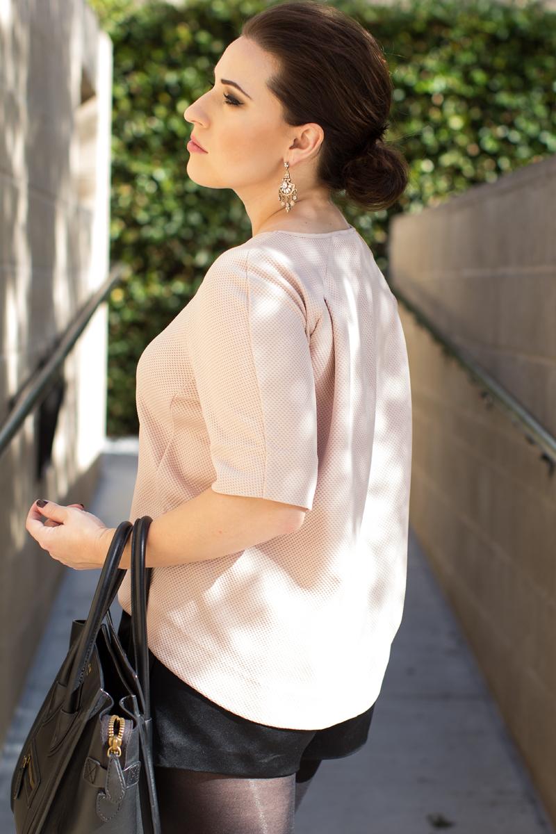 le tote raglan blouse pink