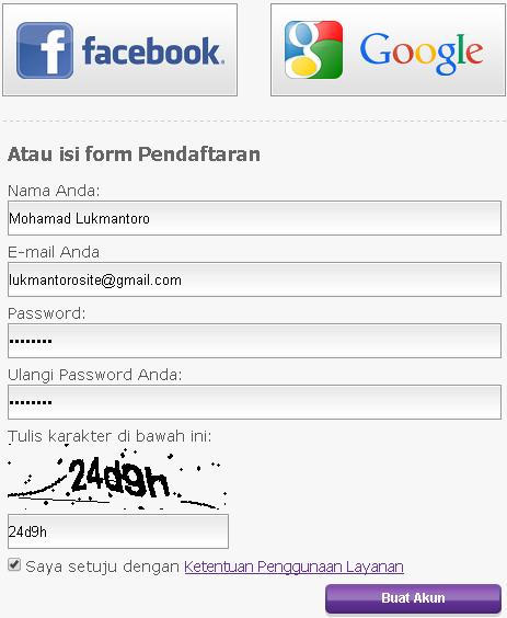 form daftar idhostinger hosting murah lokal