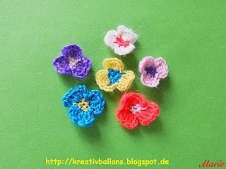 Blüten häkeln Anleitung