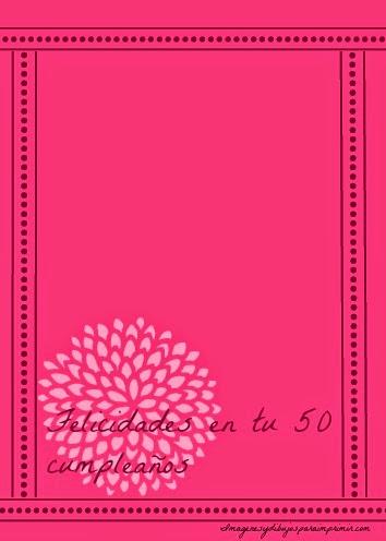 Felicitaciones de 50 años para imprimir