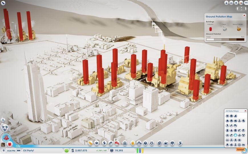 Плотность населения на карте города