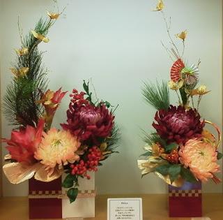 組紐・金のイチョウの葉を使ったお飾り(お教室用)