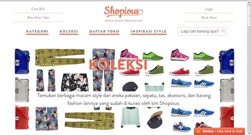 Koleksi di Shopious.com