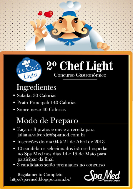 2º Chef Light Concurso Gastronômico do Spa Med Sorocaba Campus