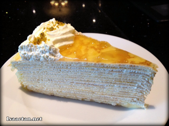 The Mango Yogurt Mille Crepe - RM9.50/slice