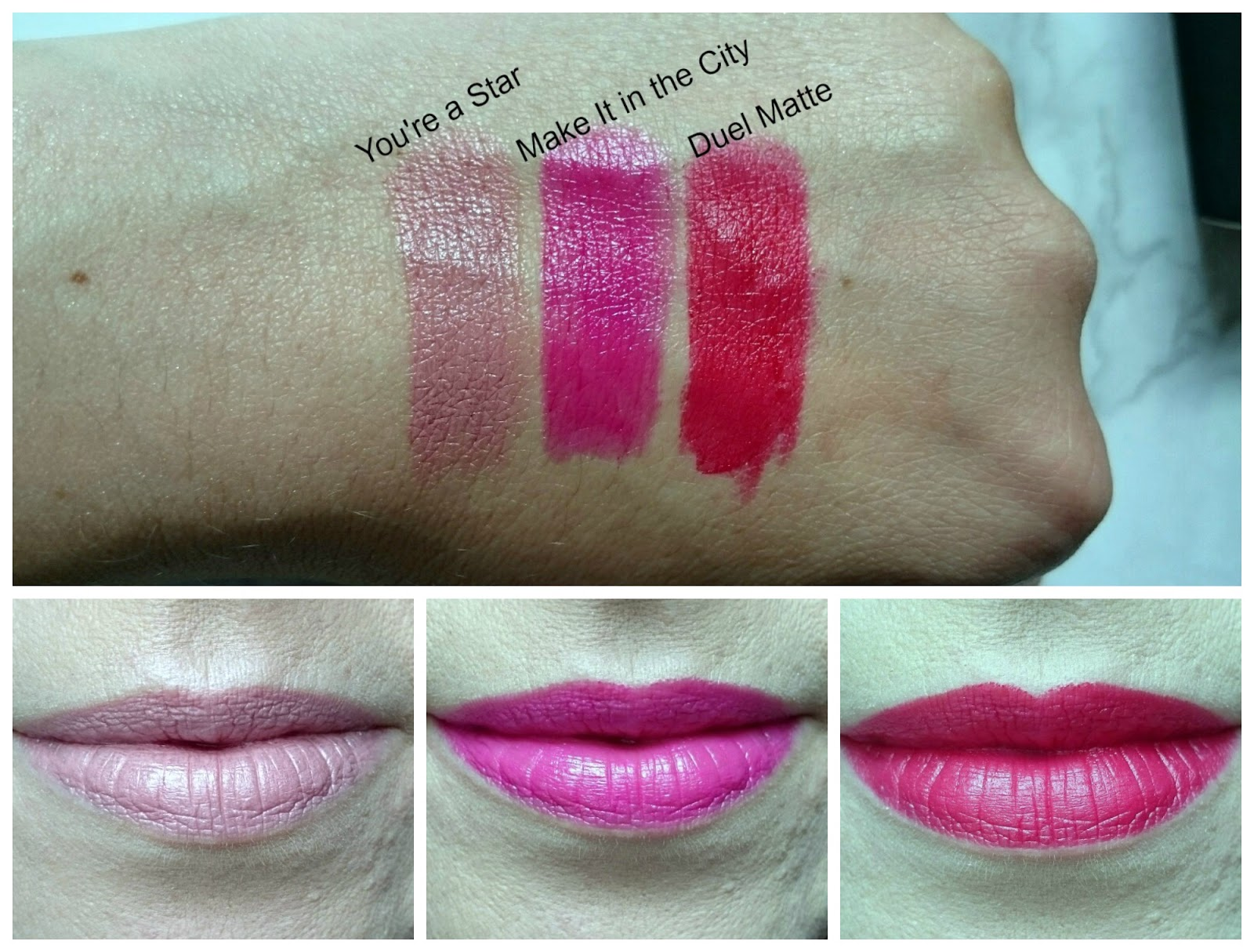 Makeup Revolution Iconic Pro Lipstick swatches