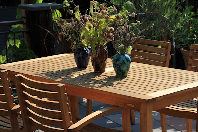 An Outdoor Table Setting of Brush McCoy