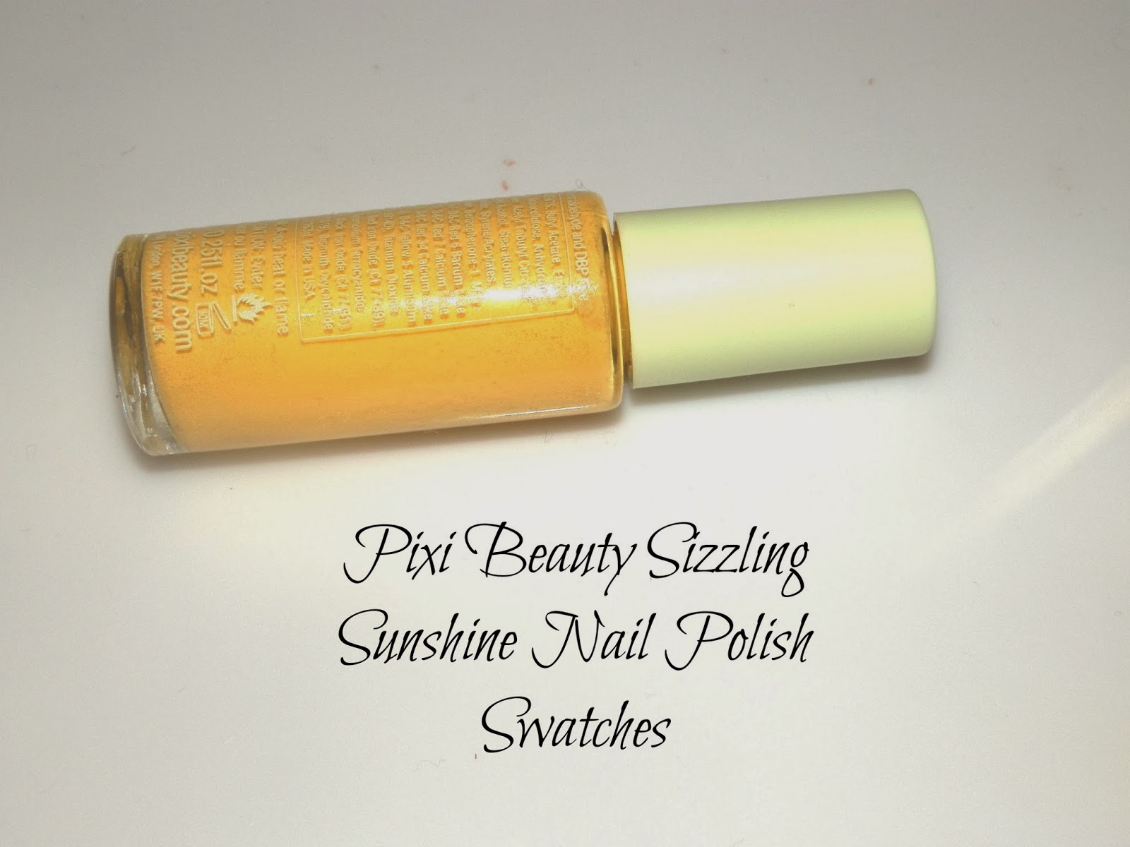 Pixi Beauty Sizzling Sunshine Nail Polish Swatches