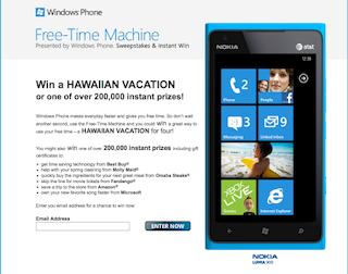Microsoft runs 'Free Time Machine' contest to promote Windows Phone