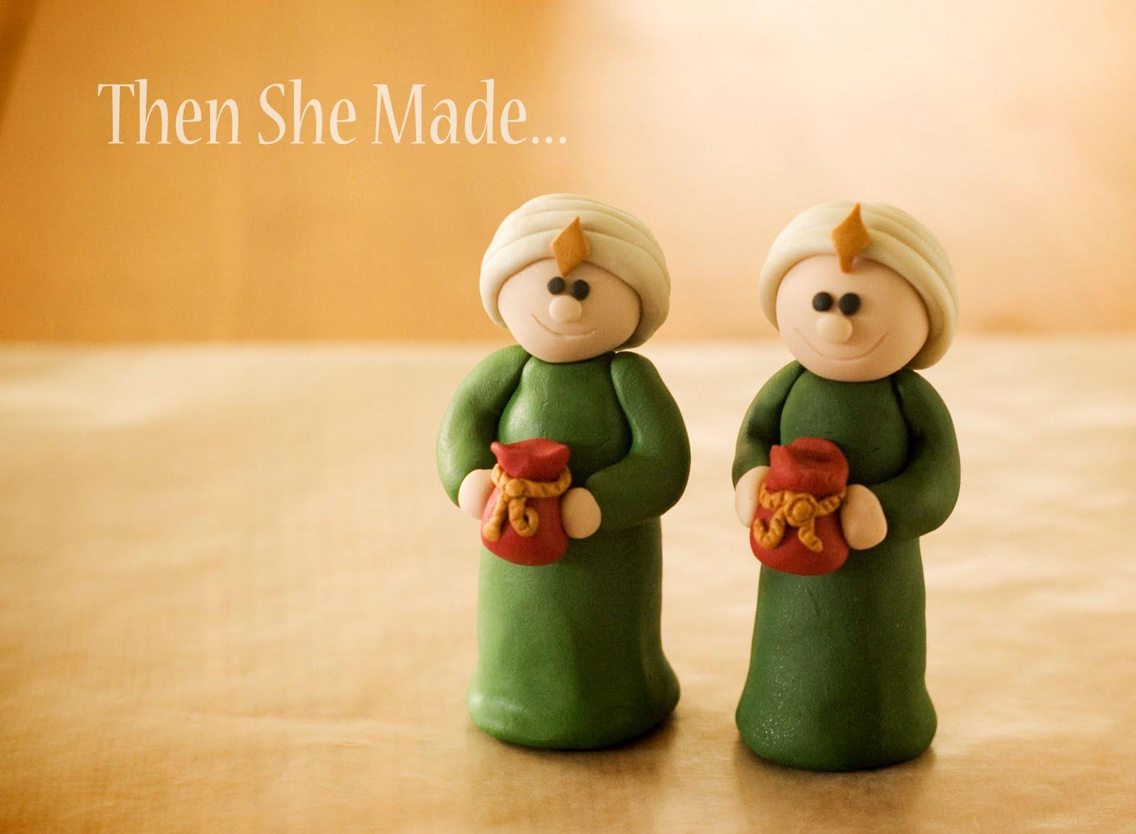 then she made nativity tutorial wiseman 1