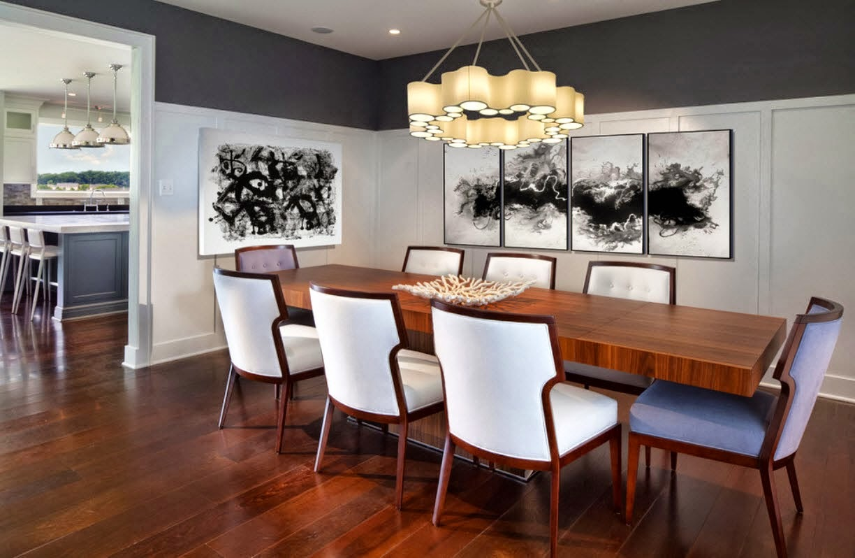 Dekorasi Interior Ruang Makan Minimalis Dengan Desain Lampu Gantung