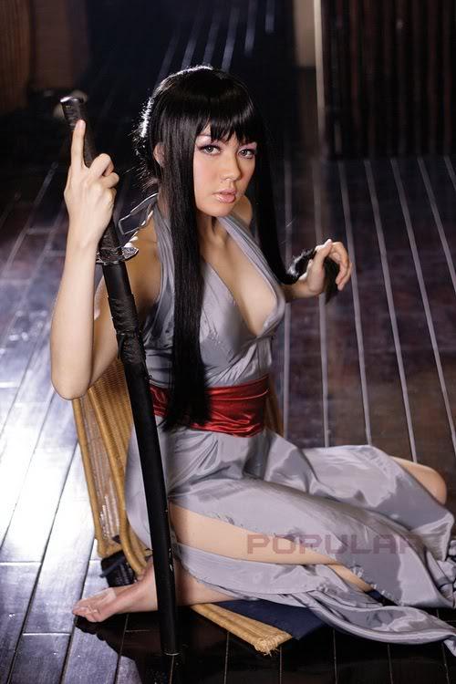 Foto Sexy Vicky Shu di Majalah Popular
