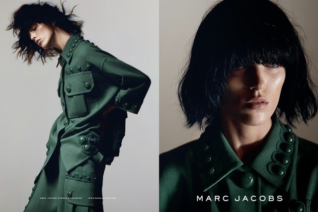 Anja Rubik opts for an androgynous style for the Marc Jacobs Spring/Summer 2015 Campaign